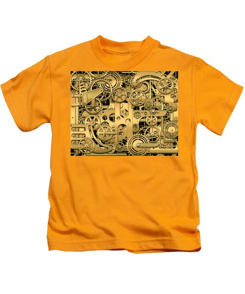 Complexity And Complications - Clockwork Gold Kids T-Shirt