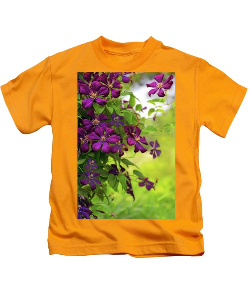 Copious Clematis Kids T-Shirt