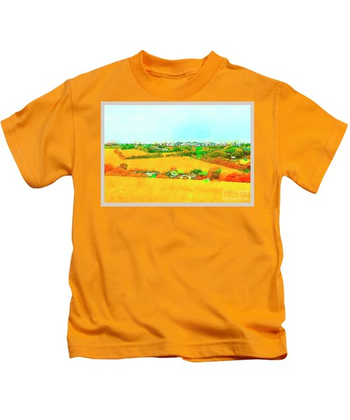 countryside  in Cornwall, UK Kids T-Shirt