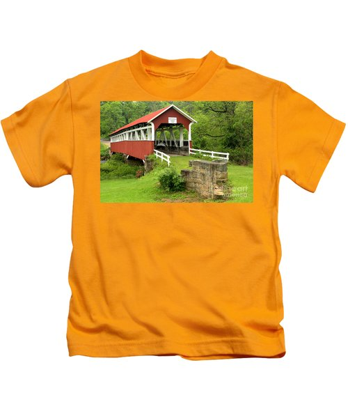 Covered Bridge In Middlecreek Township Kids T-Shirt
