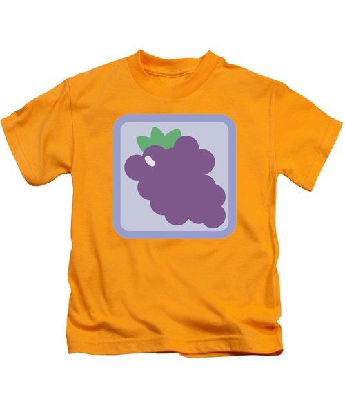 Cute Grapes Kids T-Shirt by Caroline Goh