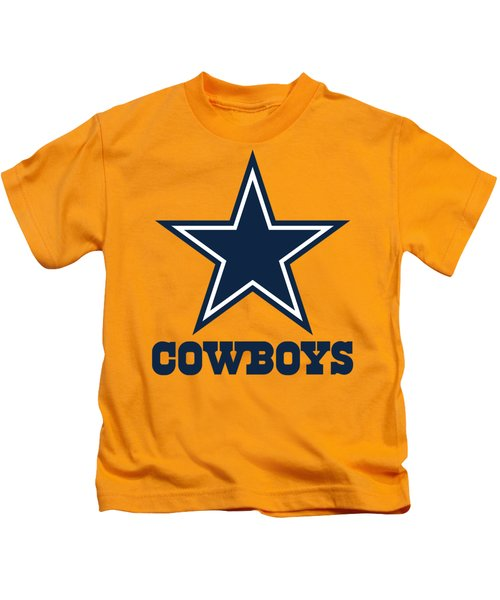Dallas Cowboys On An Abraded Steel Texture Kids T-Shirt