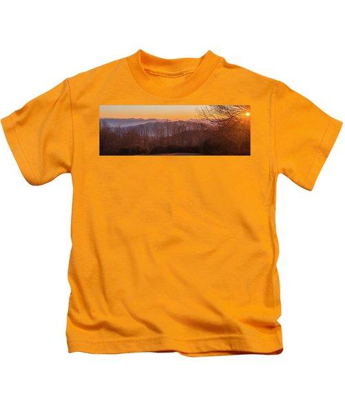 Deep Orange Sunrise Kids T-Shirt