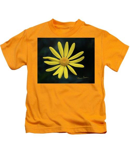 Deep Yellow Flower Kids T-Shirt