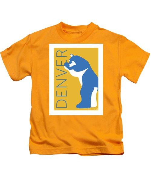 Denver Blue Bear/gold Kids T-Shirt
