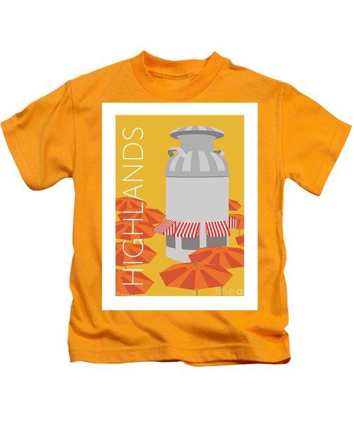 Denver Highlands/gold Kids T-Shirt