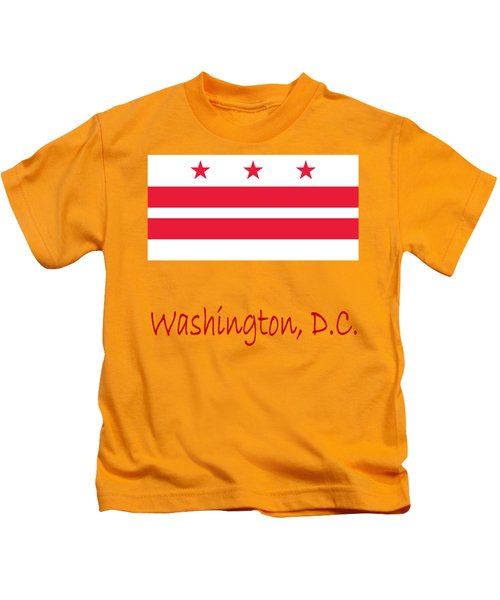 District Of Columbia Flag Kids T-Shirt