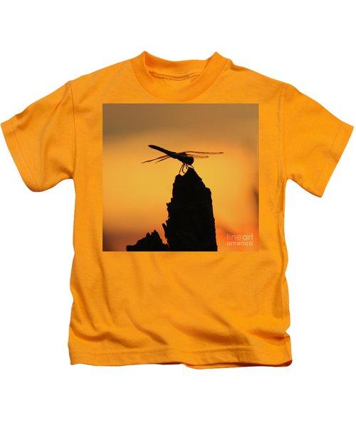 Dragonfly Sunset Kids T-Shirt