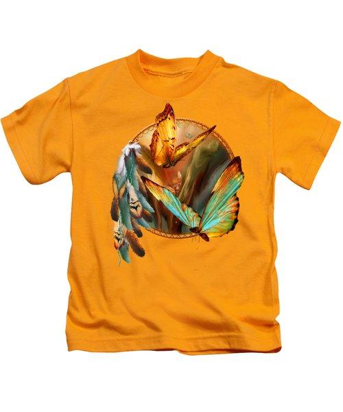 Dream Catcher - Spirit Of The Butterfly Kids T-Shirt