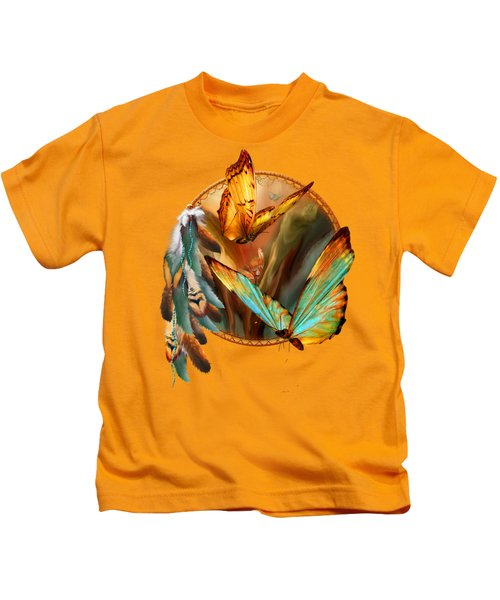 Dream Catcher - Spirit Of The Butterfly Kids T-Shirt