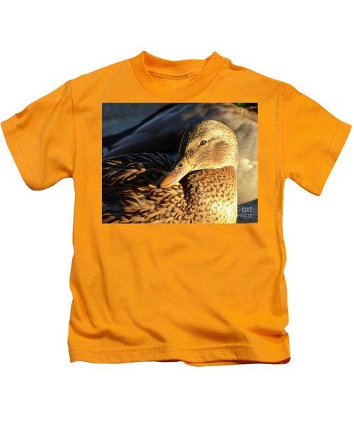 Duck Sunbathing Kids T-Shirt