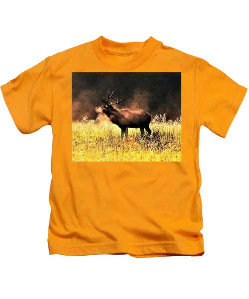 Early Morning Steam Kids T-Shirt
