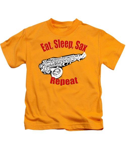 Eat Sleep Sax Repeat Kids T-Shirt