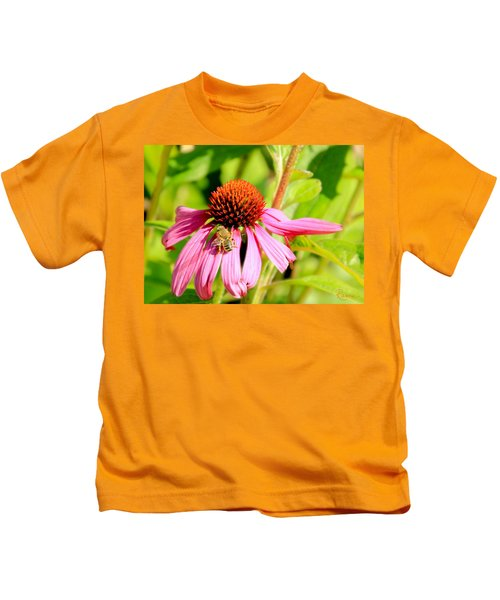 Echinacea Bee Kids T-Shirt