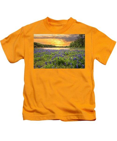 End Of A Bluebonnet Day Kids T-Shirt