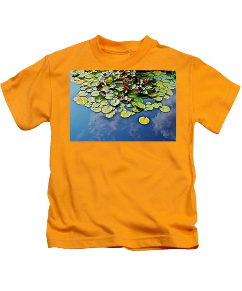 End Of July Water Lilies In The Clouds Kids T-Shirt