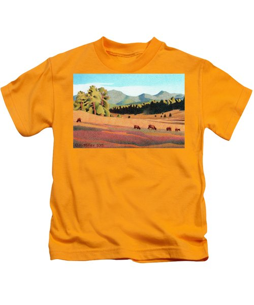 Evening Light Evergreen Kids T-Shirt
