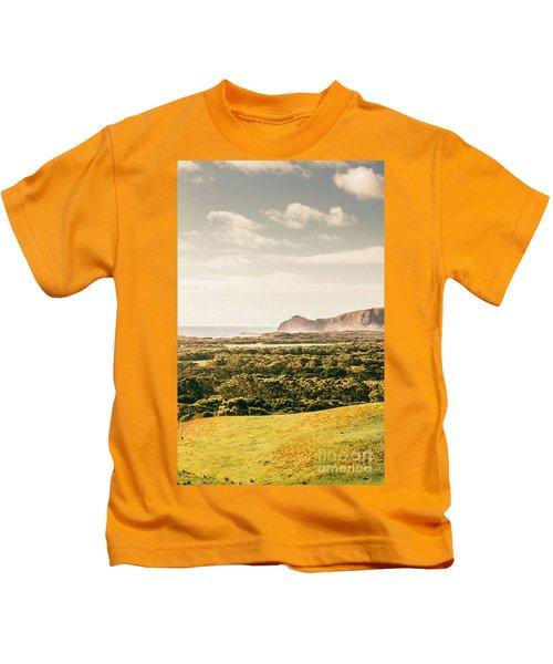 Farm Fields To Seaside Shores Kids T-Shirt