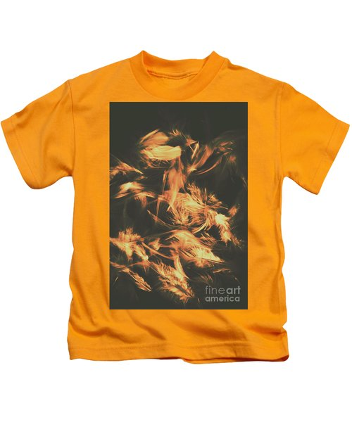 Feathers And Darkness Kids T-Shirt
