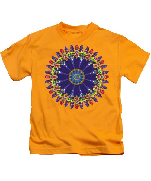 Feathers In The Round Kids T-Shirt