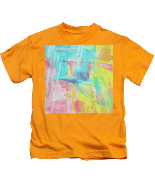Flowers, Sky And Sun Kids T-Shirt