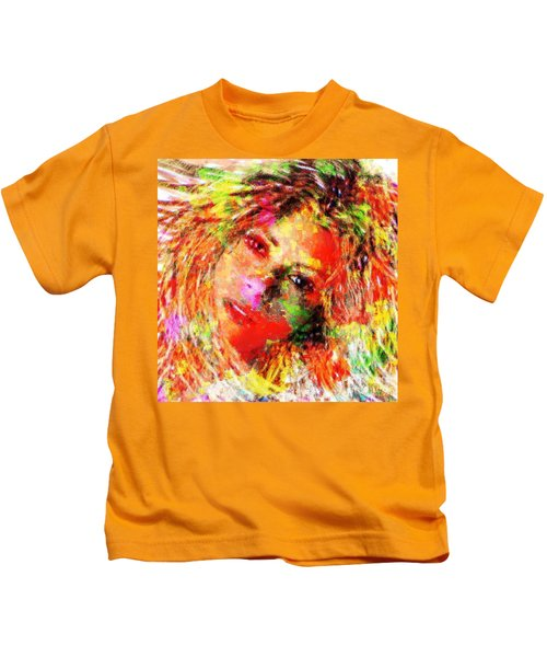 Flowery Shakira Kids T-Shirt by Navo Art