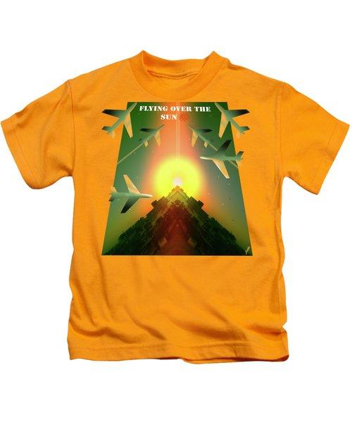 Flying Over The Sun Kids T-Shirt
