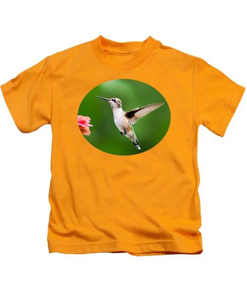 Free As A Bird Hummingbird Kids T-Shirt by Christina Rollo