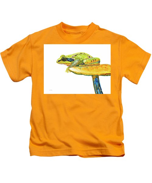 Frog Sitting On A Toad-stool Kids T-Shirt
