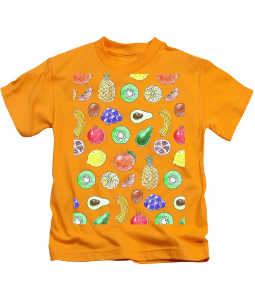 Fruit Pattern  Kids T-Shirt by Katerina Kirilova
