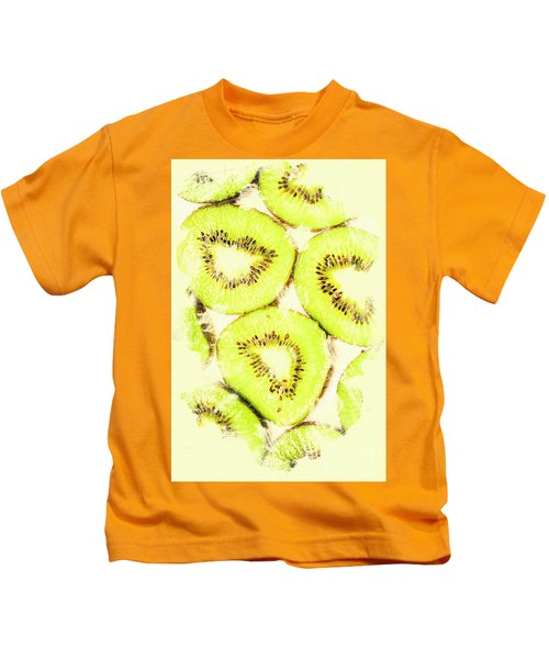 Full Frame Shot Of Fresh Kiwi Slices With Seeds Kids T-Shirt