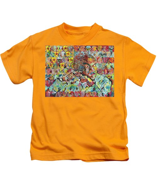 God Bless The Red, Black And Blue- Sombra De Arreguin Kids T-Shirt