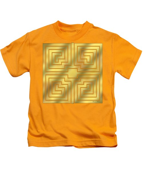Gold Geo 4 - Chuck Staley Design  Kids T-Shirt