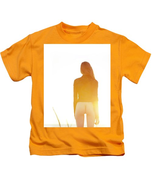 Golden Hour Girl Kids T-Shirt