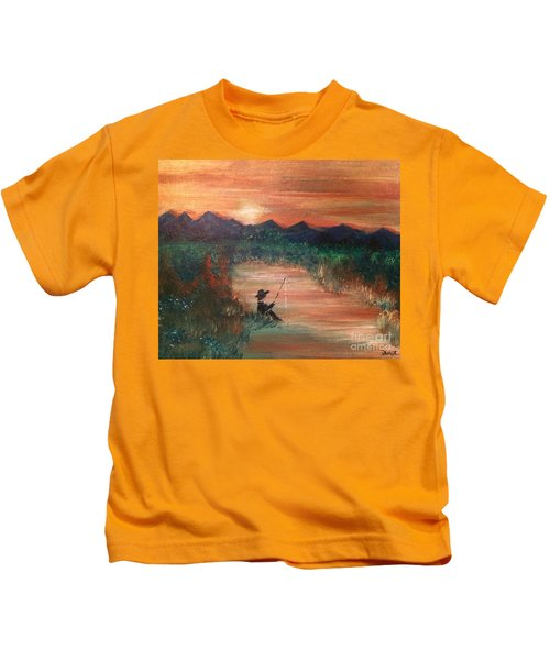 Golden Sunset Kids T-Shirt