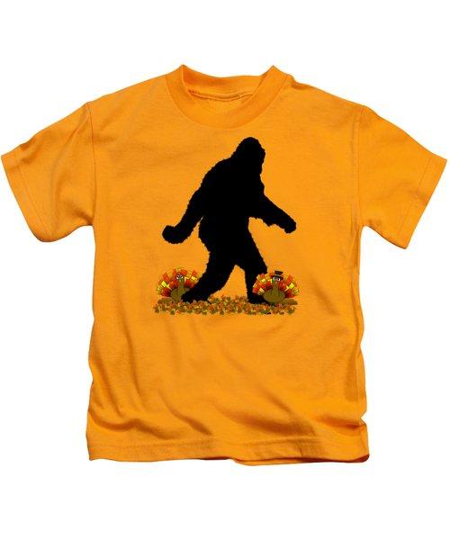 Gone Thanksgiving Squatchin' Kids T-Shirt by Gravityx9   Designs