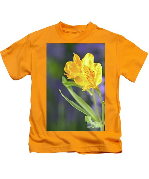 Graceful Wild Lilies Kids T-Shirt