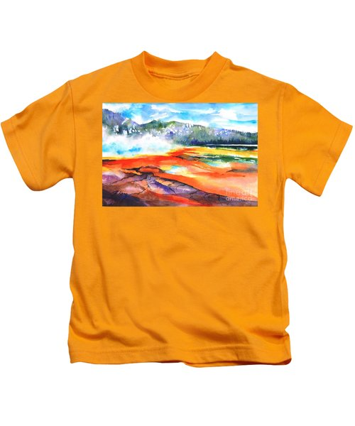 Grand Prismatic Hot Spring Kids T-Shirt