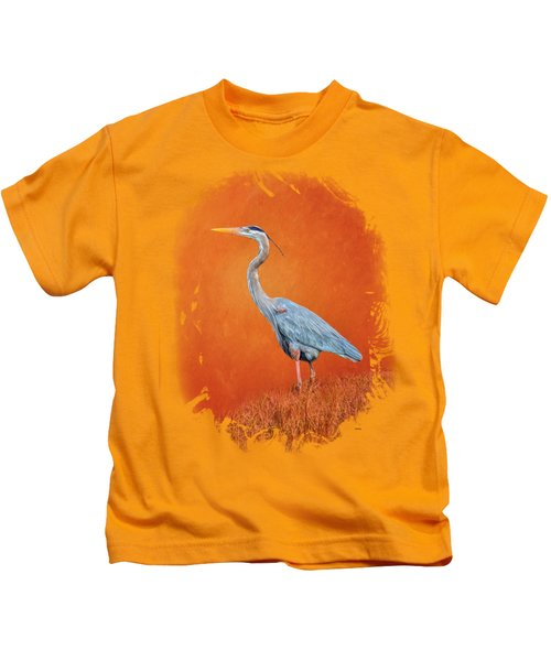 Great Blue Abstract 2 Kids T-Shirt by John M Bailey