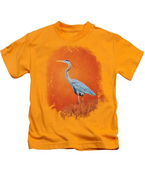 Great Blue Abstract 2 Kids T-Shirt