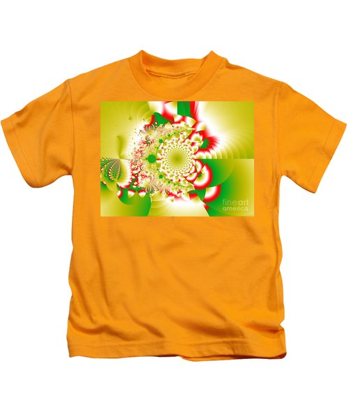Green And Yellow Collide Kids T-Shirt