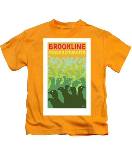 Green Fields Of Brookline Kids T-Shirt