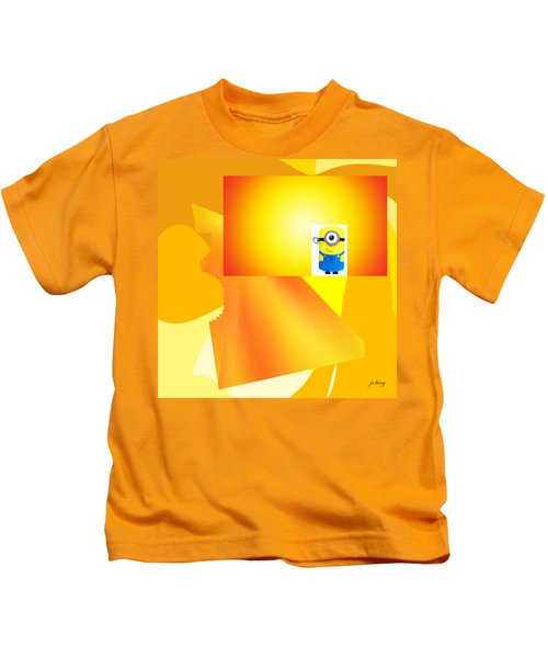 Hello Yellow Kids T-Shirt by Jacquie King
