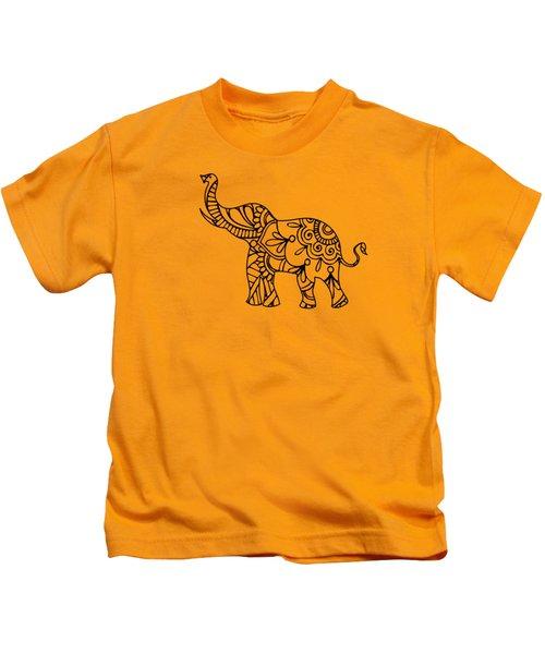 Henna Elephant 2 Kids T-Shirt