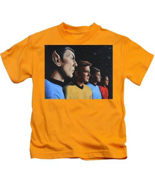 Heroes Of The Final Frontier Kids T-Shirt