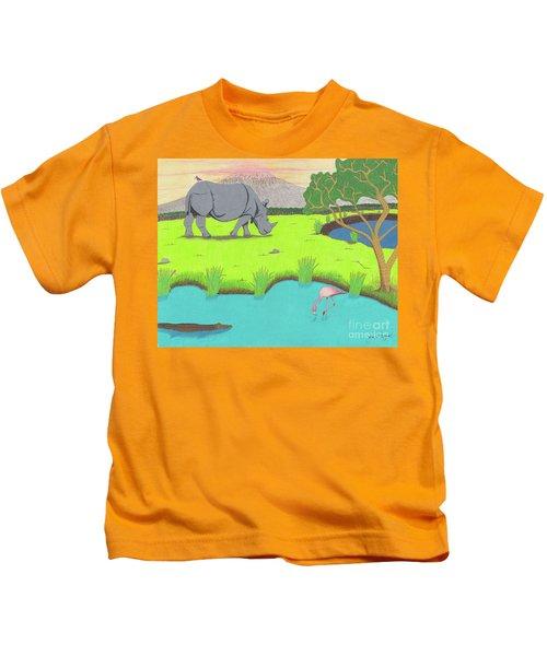 His Backward Glance Kids T-Shirt