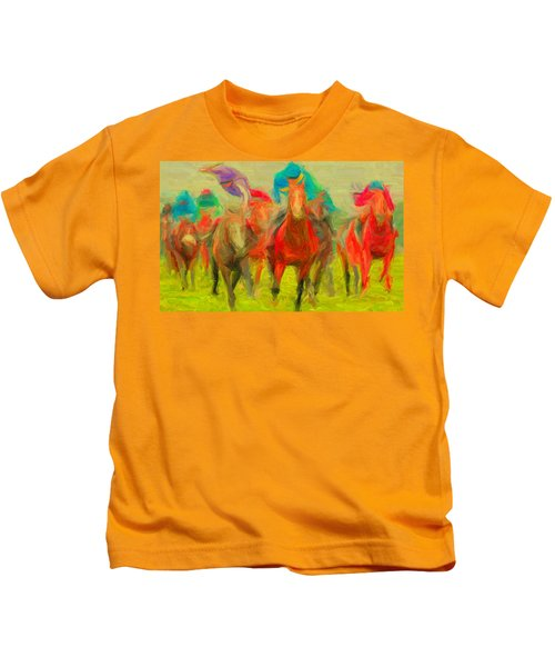 Horse Tracking Kids T-Shirt