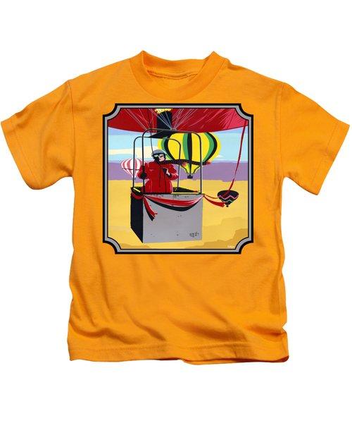 Hot Air Ballooning - Abstract - Pop Art -  Square Format Kids T-Shirt