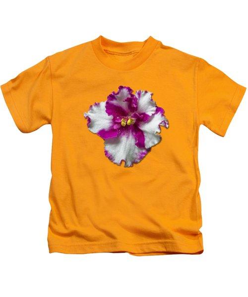 Hot Pink Flower Kids T-Shirt