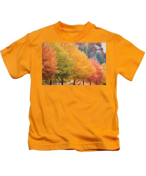 October Trees Kids T-Shirt